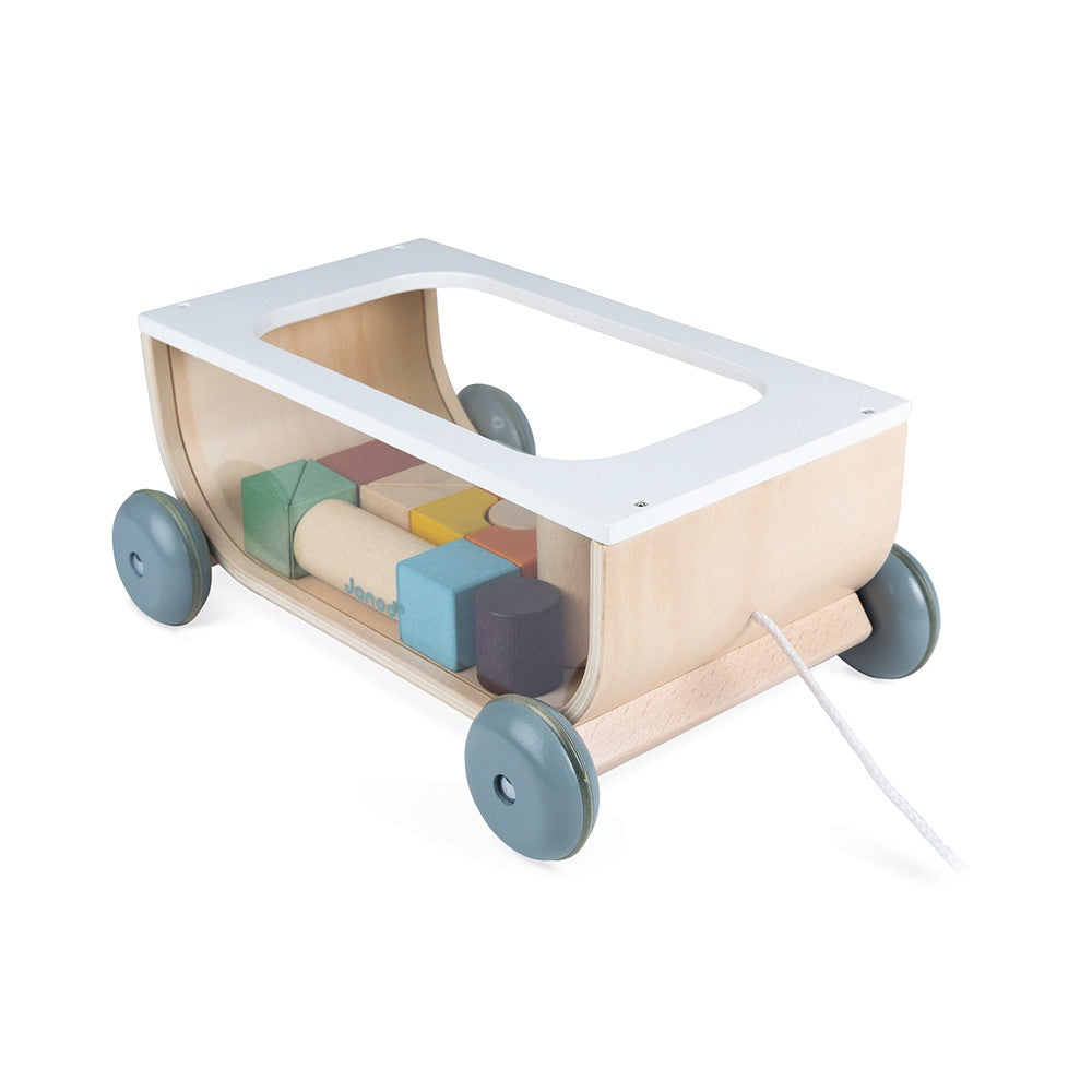 Janod SWEET COCOON CART WITH BLOCKS - Pull Along