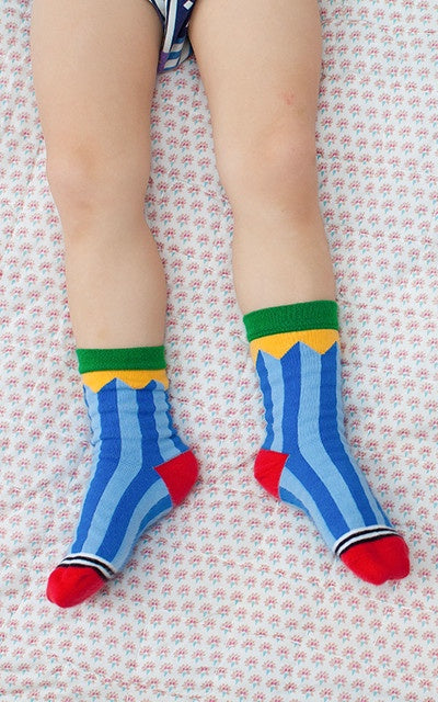 Lamama Children-s Socks - CIRCO STRIPES