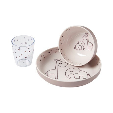 Done by Deer Yummy mini dinner set Dreamy dots Powder
