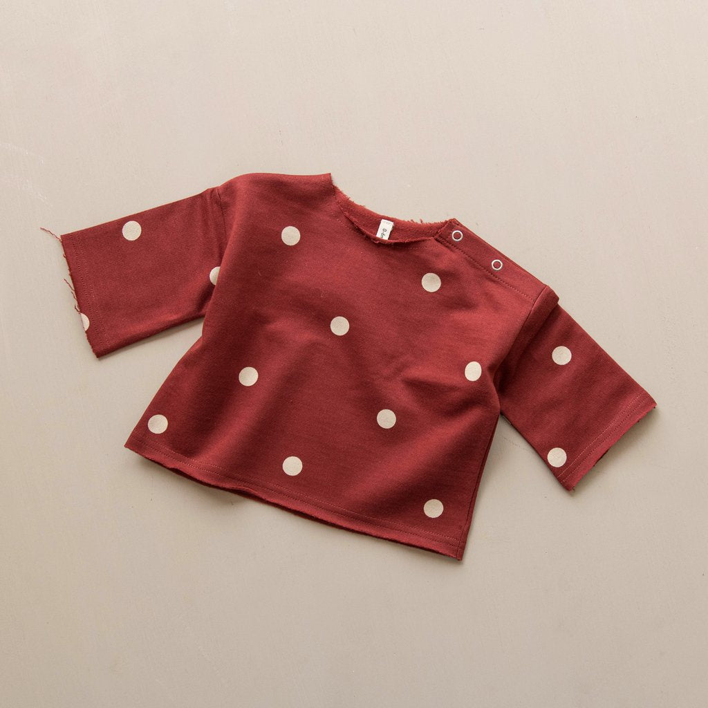 Organic Zoo Burgundy Dots Layer Sweatshirt