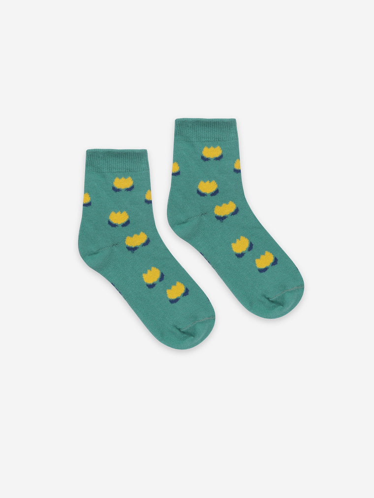 Bobo Choses  Yellow Chocolate Flowers Short Socks