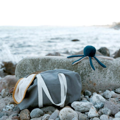 Fabelab SOFT RATTLE  - Octopus Blue