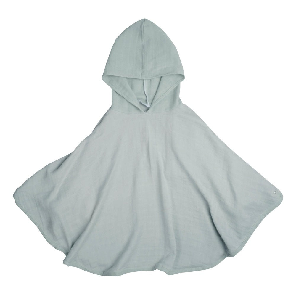 Fabelab Cotton Muslin Poncho FOGGY BLUE - SINGLE LAYER