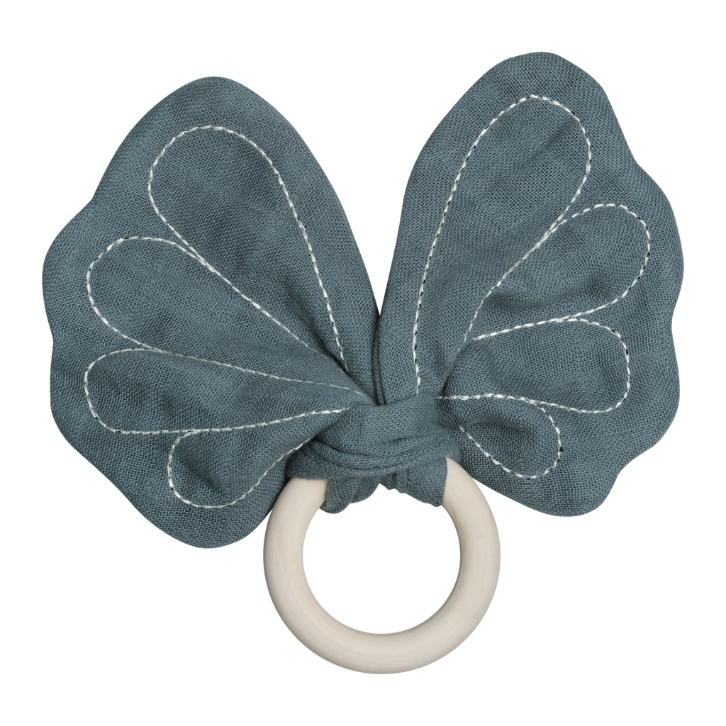 Fabelab Animal Teether ButterflyBlue Spruce