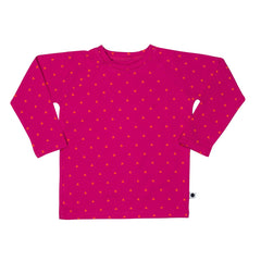 lamama Long Sleeve Malti Hot Pink