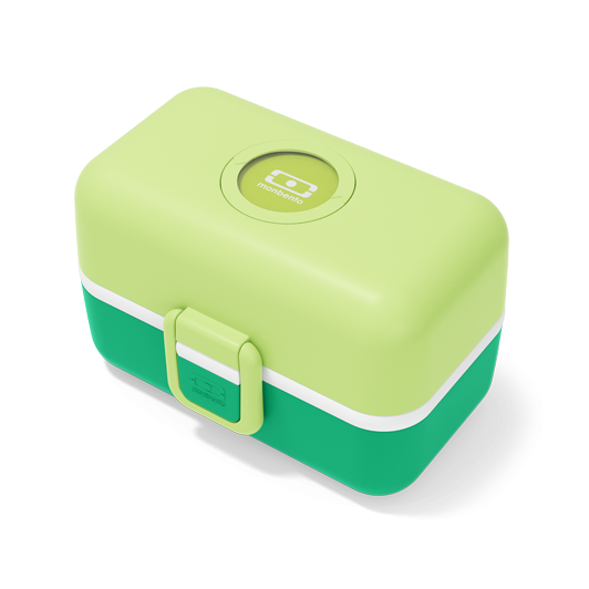 Monbento Tresor Children's Lunch Box GREEN APPLE