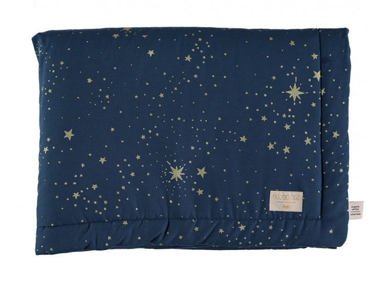 Nobodinoz Laponia blanket gold stella / Night Blue 140x100cm