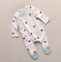 Organic Zoo Burgundy Dots Suit