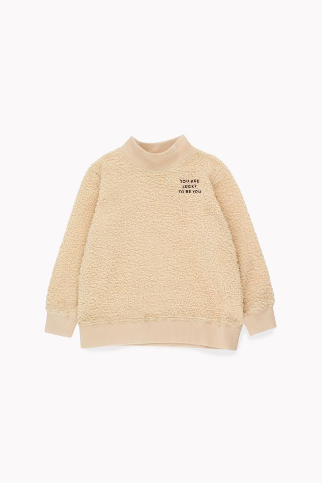 tiny cottons YOU ARE LUCKY SWEATSHIRT sand