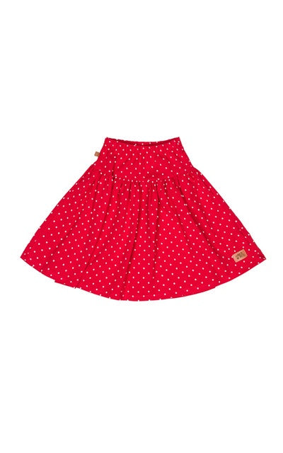 lamama Midi Skirt LOVE DOTS