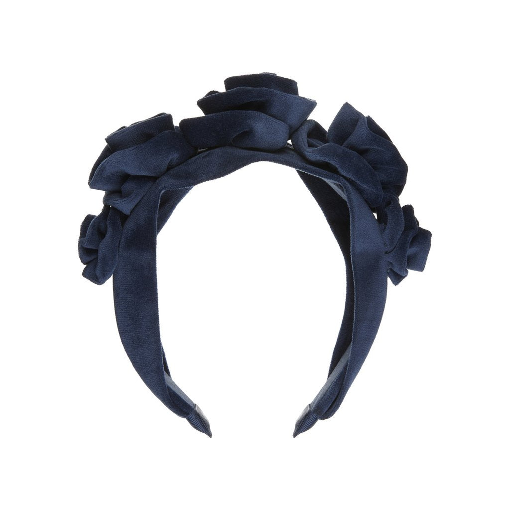 Velvet rosette statement alice band