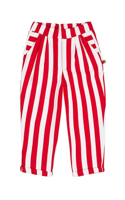 lamama All Year Smart Pants RED STRIPES