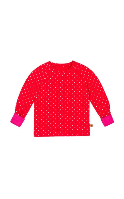 lamama Long Sleeve Tee LOVE DOTS