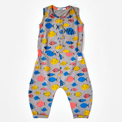 Indikidual - Fish Print Sleeveless Jumpsuit
