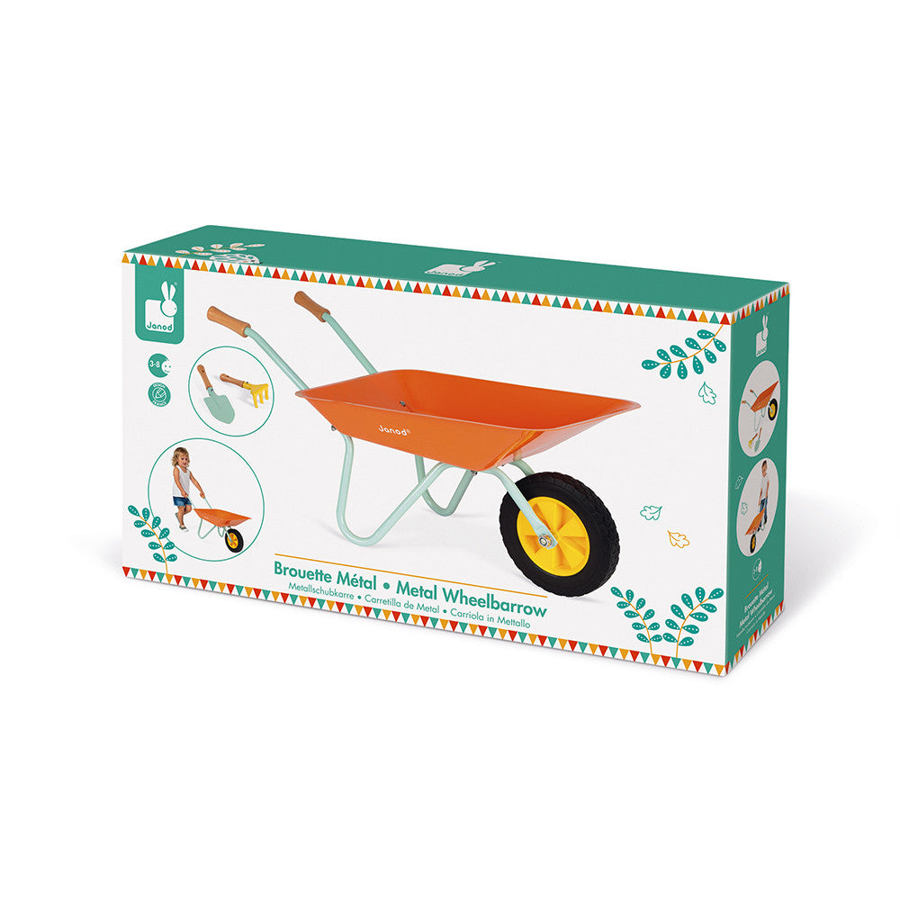 Janod Happy Garden METAL WHEELBARROW