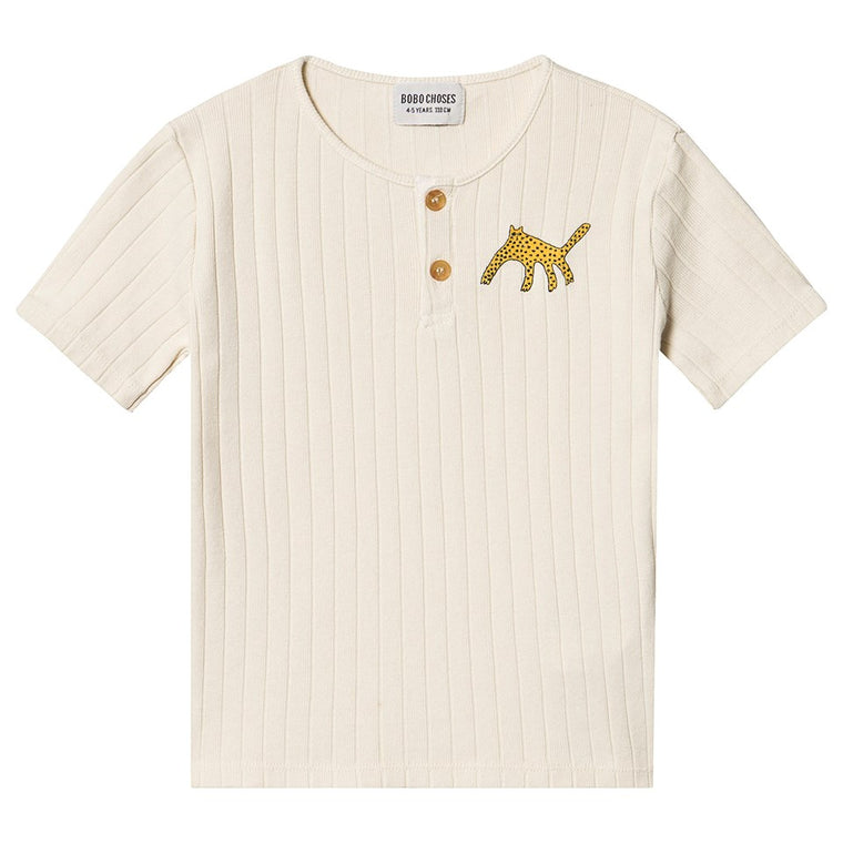 BOBO CHOSES Leopard Buttoned T-Shirt