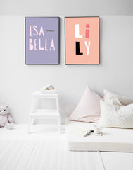 LILY Style Personalised Poster