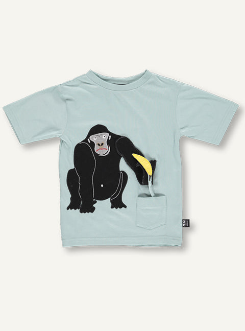 UBANG Unisex Mint Organic Cotton Gorilla Top