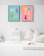 OLIVIA Style Personalised Poster