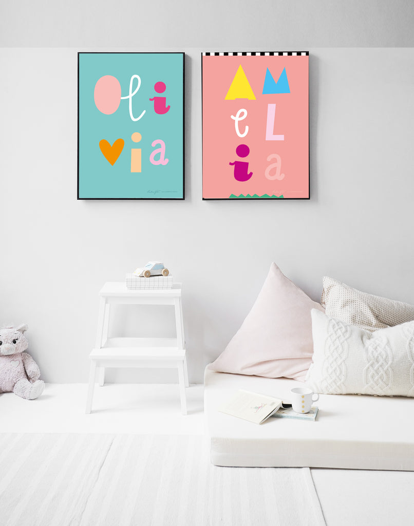 AMELIA Style Personalised Poster
