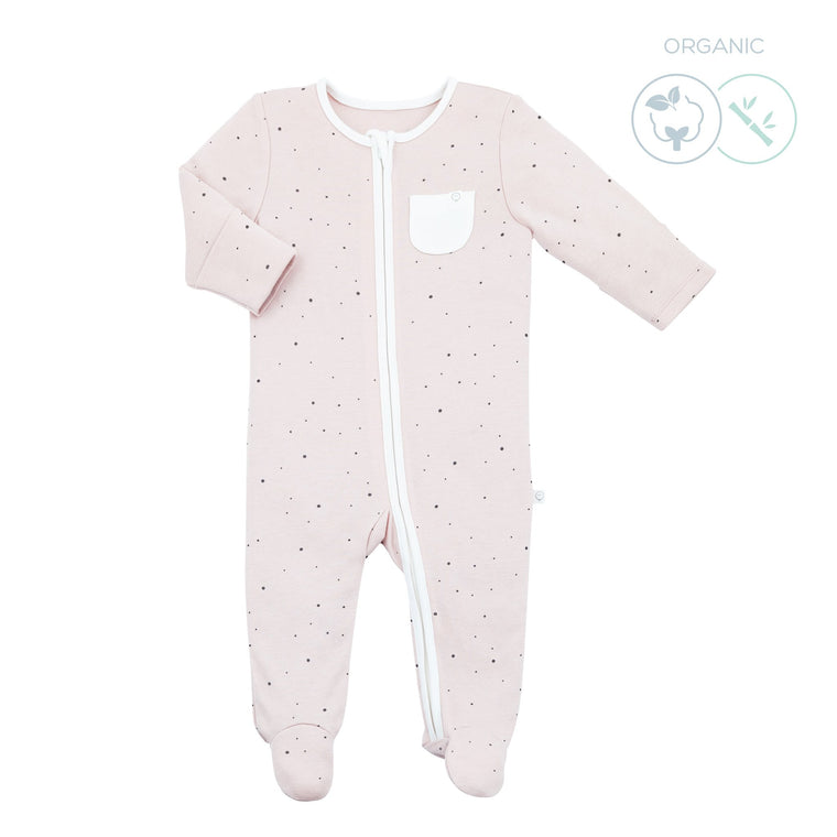 BABY MORI ZIP UP SLEEPSUIT