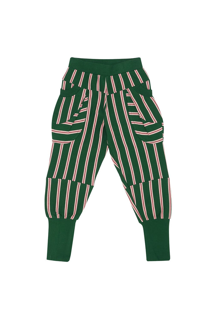 Middle Daughter TROUSERS- Brass In Pocket, Stripes GREEN