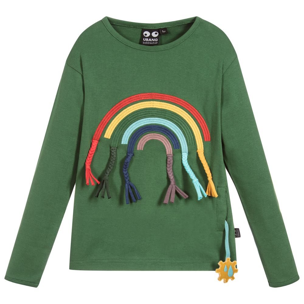 UBANG Rainbow tee, Hedge green