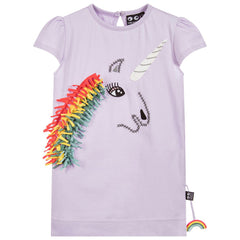 UBANG Girls Lilac Unicorn Organic T-Shirt