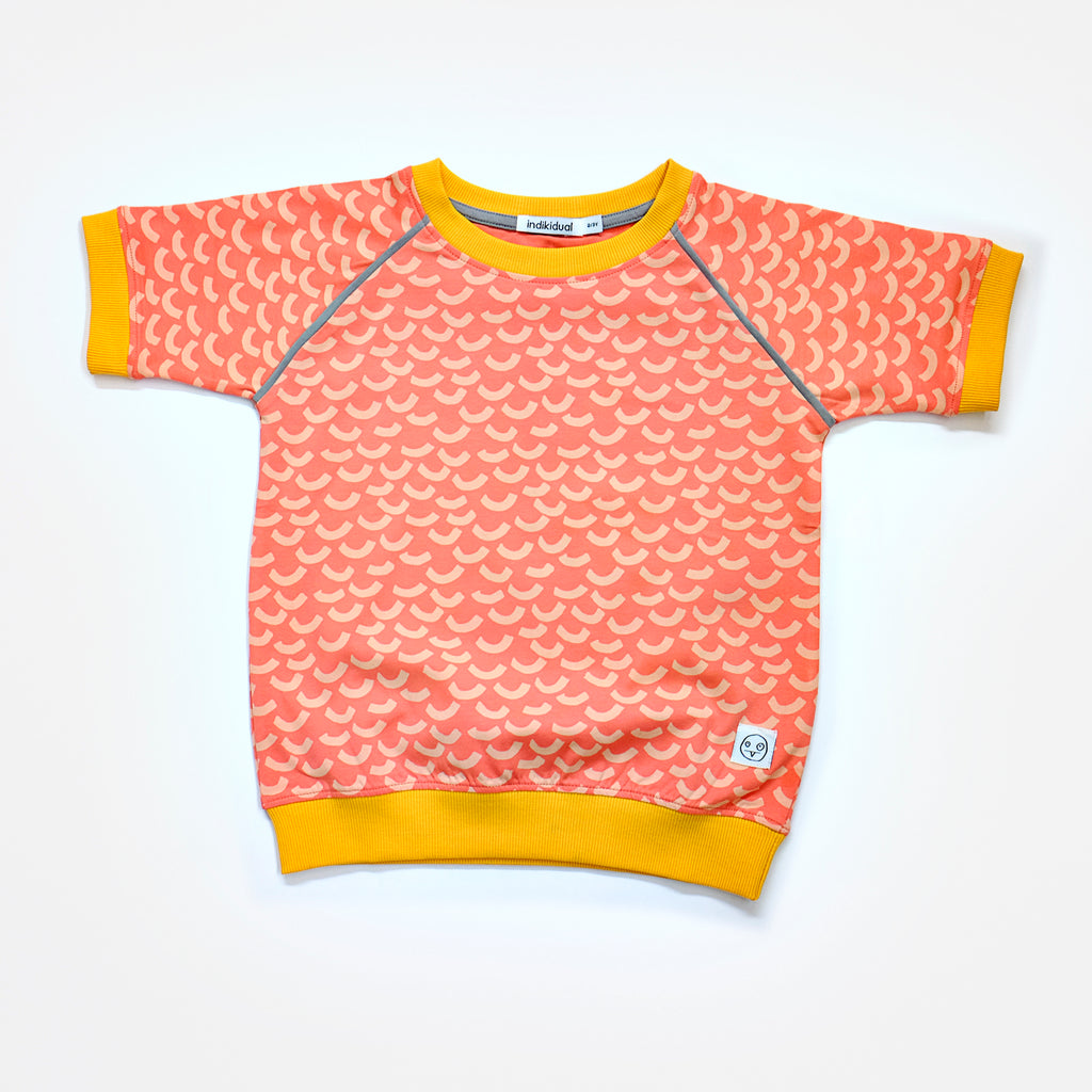 Indikidual - Short Sleeve Wave print Sweat