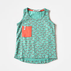 Indikidual - Wave Print Vest Turquoise