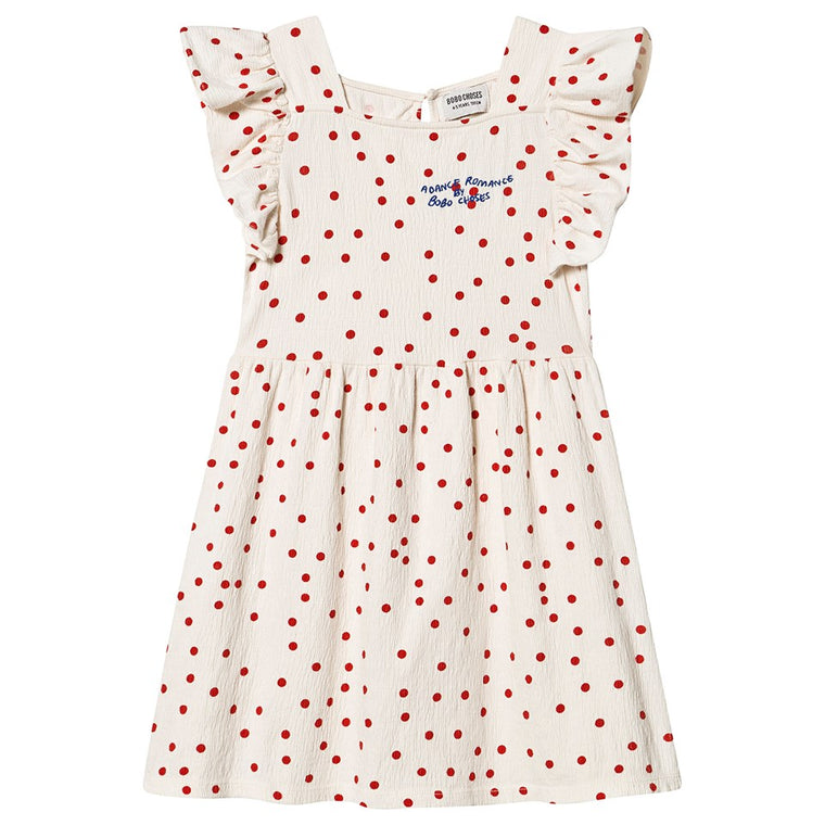 BOBO CHOSES Dots Jersey Ruffle Dress