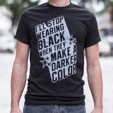 Mens Stop Wearing Black T-Shirt