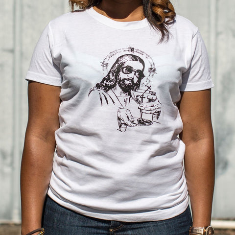 Ladies Jesus Sunglasses T-Shirt