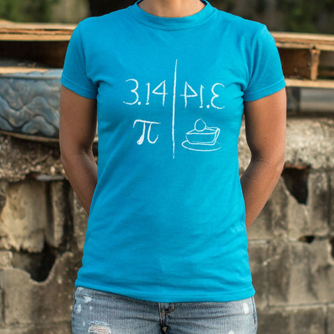 Ladies Pi Mirrors Pie T-Shirt