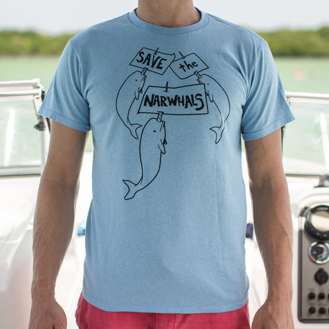 Mens Save The Narwhals T-Shirt