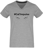 T-shirt Col V Homme #Cat'Impulse