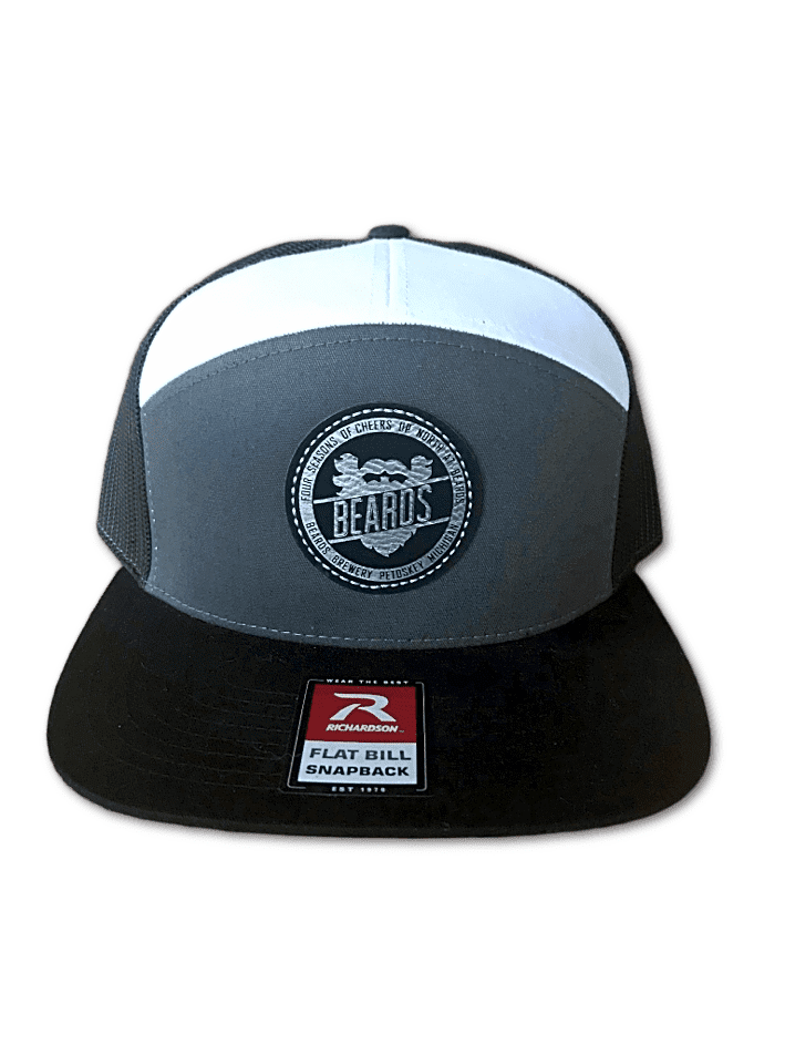 7 Panel Tri-Color Trucker Hat (Multiple Patches)