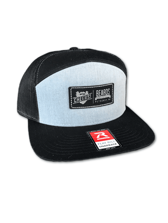 7 Panel Grey Trucker Hat