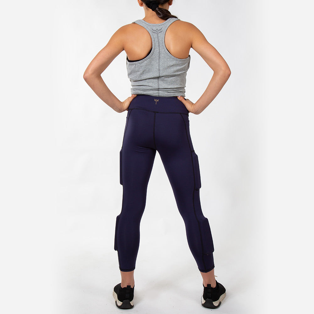 Girl's Elevate Performance Weighted Legging - Navy