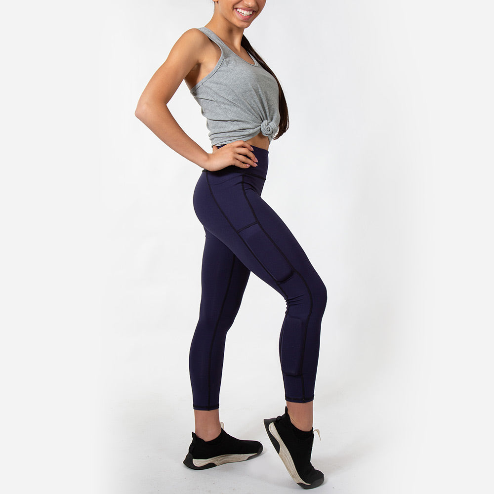 Girl's Ultimate LifeStyle Weighted Legging - Navy