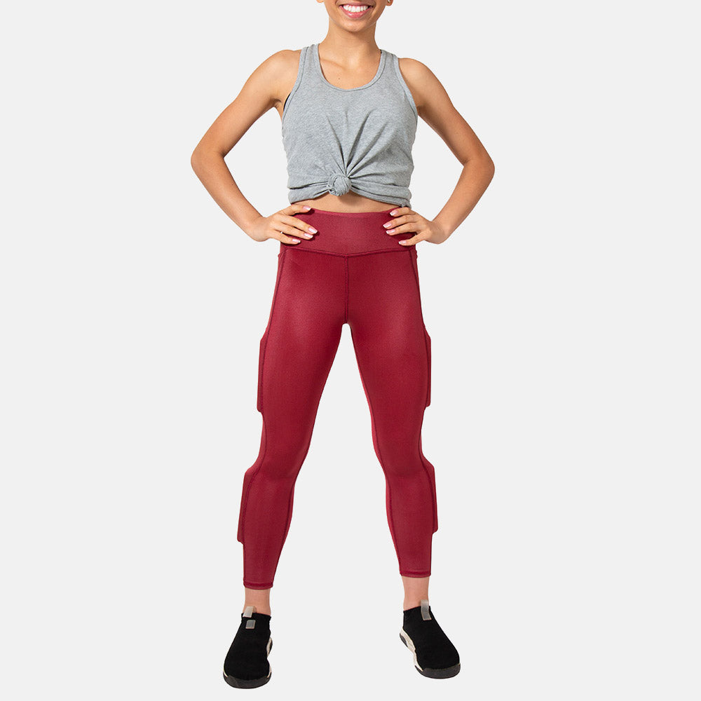 Girl's Midnight Maroon Performance Legging - Midnight Maroon