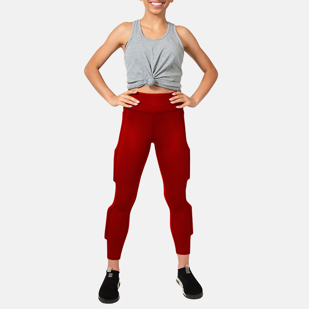 Girl's Elevate Performance Weighted Legging - Royal Red
