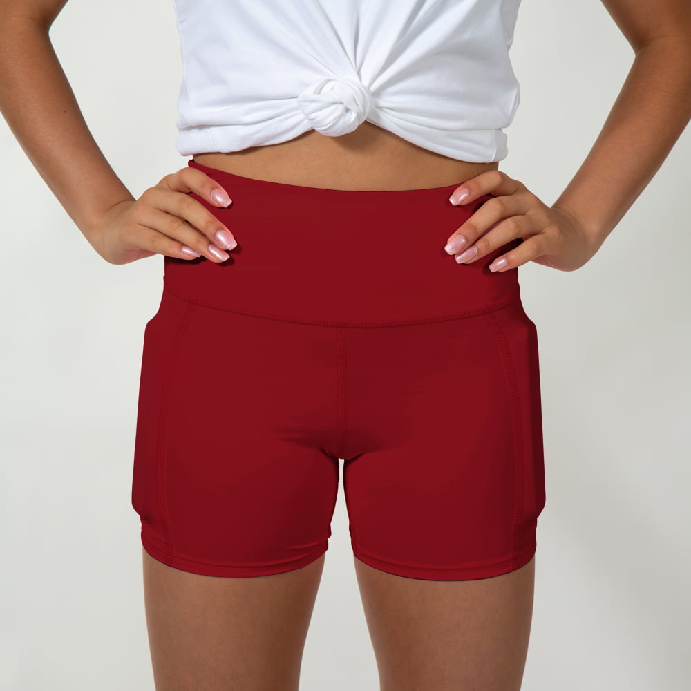 Girl's Rapid Response Weighted Performance Shorts - Midnight Maroon