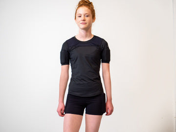 Weighted Girl's Compression Shorts - Black