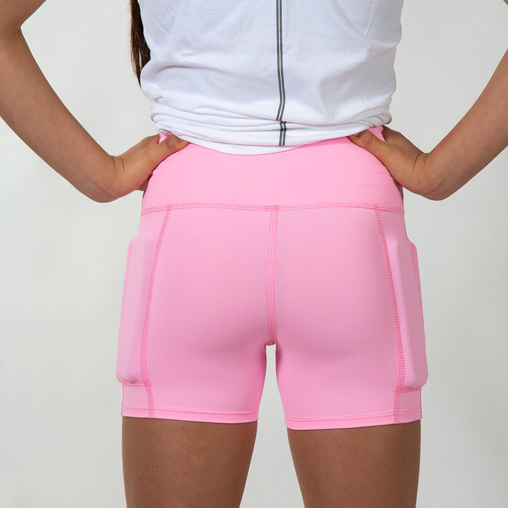 Girl's Rapid Response Weighted Performance Shorts - Bubble Gum Pink