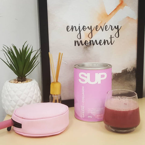 SUP Supplements INNER GLOW GREENS + COLLAGEN hair skin and nails care