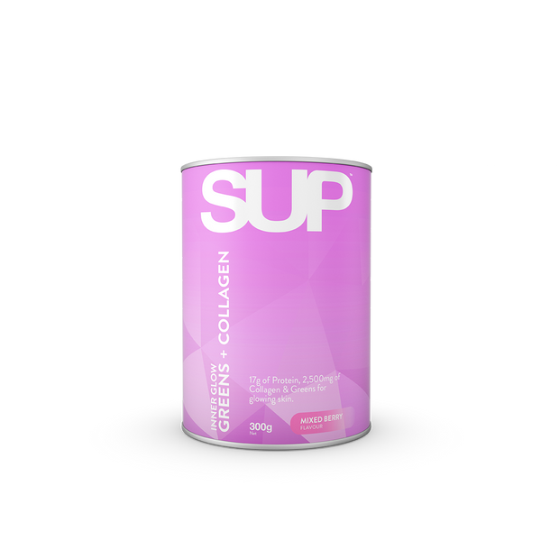 SUP<sup>TM</sup> INNER GLOW GREENS + COLLAGEN (MIXED BERRY) 300g