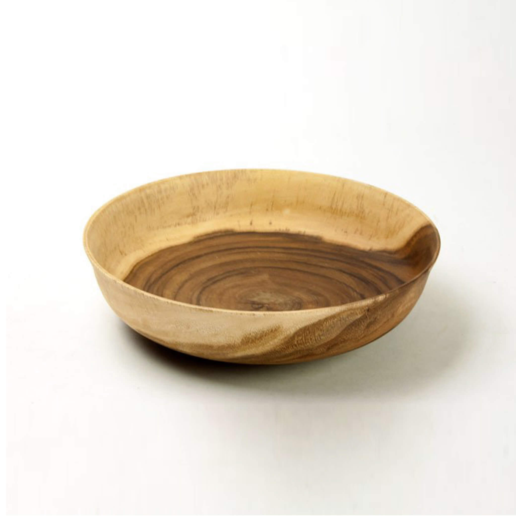 Acacia wood Big salad bowl Round 30 cm - Unik by Nature