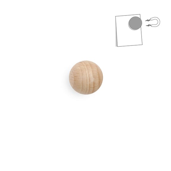 Magnetic wooden ball - very powerful natural wood - Unik by Nature