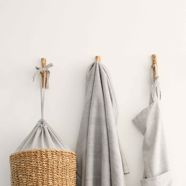Towel Hangers Wood Branches - Pack of 3 - Unik by Nature